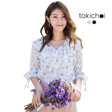 TOKICHOI - Peter Pan Collared Floral Blouse-180350