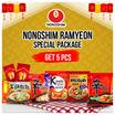 NONGSHIM 1 PAKET ( ISI 5 Pcs X 120 Gr ) Hot Spicy/Shrimp Shin Ramyun | Kimchi Ramyun | Neoguri Spicy