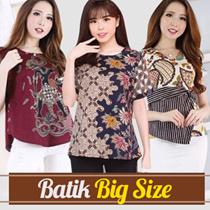 [FREE ONGKIR] Atasan Batik Modern Standar / Jumbo Size / Blouse Batik Bigsize Wanita / Blus Batik