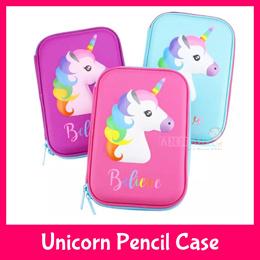 ♥FREE GIFT♥Smiggle Quality Hardtop Pencil Case Box Holder★Embossed Design Kids Stationery
