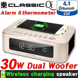 [MGTEC] Wireless charging 30W Speaker / Dual Woofer / Alarm thermometer / Bluetooth4.1 CSR