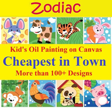 Kids Oil Painting★DIY Paint by Numbers★Education and Art ★Cute Paint art ★ Canvas★Gift
