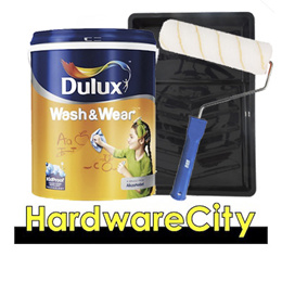 [FREE ROLLER SET] Dulux Wash and Wear Emulsion Interior Paint 5L + Paint Tray Set
