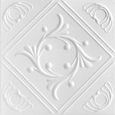 ft White Shanko W208DA Pattern 208 Pressed Metal Wall and Ceiling Tiles 20 sq 5 Piece