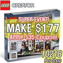 [MAKE $177] LEGO 10218 Creator Pet Shop