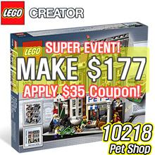 [MAKE $177] LEGO 10218 Creator Pet Shop
