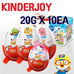 [FERRERO ROCHER]Kinder Joy 20g x 10ea/Chocolate/Hello Kitty Toy/Pororo/Baby Snack/Nutella/Hazelnut