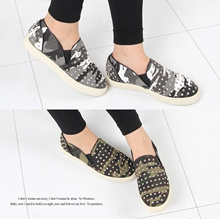 Military Stud Slip-On Sneakers 2color # s558