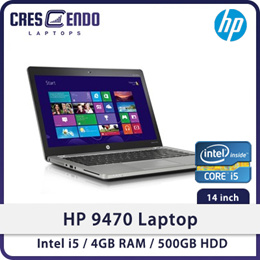 Refurbished HP 9470 Laptop / 14 Inch / Intel i5 / 4GB RAM / 500GB HDD / Win 7 / One Month Warranty
