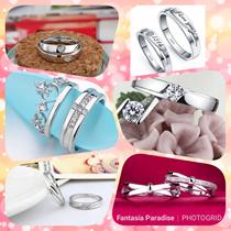Sliver 925 Couple Ring/Free Size/Adjustable