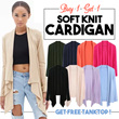 1 day Only! Buy 2 Free TankTop! Ladies Soft Cardigan - Comfortable soft knit cardigan - best outer - super soft material