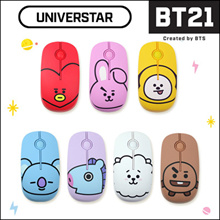 [BT21 by BTS] Wireless Silent Mouse / Noiseless Button ★ UNIVERSTAR BT21 Character Face Design