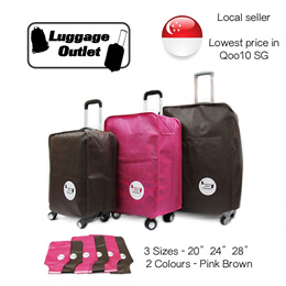 ★Selling fast!★ Luggage Cover 20/24/28 inch Pink Brown Suitcase Cover Non-woven