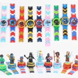 1+1 키즈 블록 시계 회전 인형 장착 가능 캐릭터 시계/무료배송