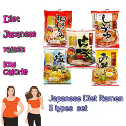 Diet japanese nakaki Konjac ramen / low calorie / Delicious but good for diet! / 5types set