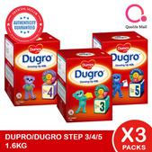 [DUMEX] [BUNDLE of 3] Dugro Step 3/4/5 Babies/Kids Milk Formula 1.6kg (2x800g)