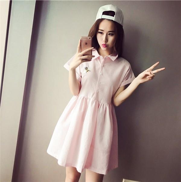 レディースワンピース 韓国無地 スリム 韓国のファッション 上品  学院?  ハイウエストワンピース ストライプ  ハイセンス 着心地いい おしゃれ 夏 スリム セール★ レディースワンピース