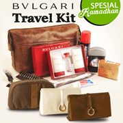 Travel Kit - LADY and GENTS BVLGARI - Business Class Internasional Airlines