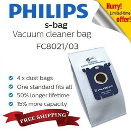 ★PHILIPS N ELECTROLUX★Philips S-bag Disposable Dust Bag Classic Long Vacuum