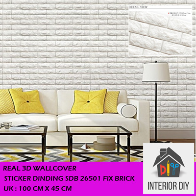 Real 3D Wallcover Wall Sticker SDB 26501 Fix Brick Original Korea