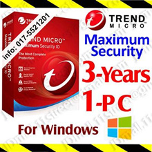 Trend Micro Maximum Security - 3 YEAR 1 PC ***** by Email | antivirus anti virus