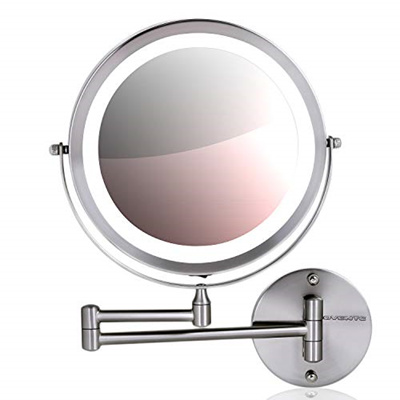 Qoo10 Ovente Wall Mount Makeup Mirror Battery Operated Led