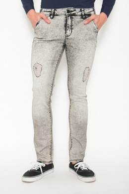 d3a887112d4 Slim Straight Denim Jeans Smoked Pearl