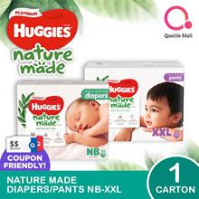 Kimberly Clark 1 x CARTON SALE: Huggies Naturemade Platinum Diapers/ Pants