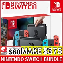 [MAKE $375] Local Seller!!! Nintendo Switch Console System Bundle // 1 Year International Warranty By Nintendo (JP SET)