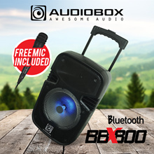 AUDIOBOX BBX 800 BOOMBOX Portable Trolley Speaker System / Bluetooth Wireless Audio Streaming Loud A