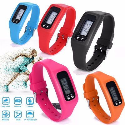 b7f337ca4fc online Relogio digital feminino LCD Pedometer Run Step Walking Distance  Calorie Counter Bracelet Hot
