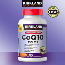 Kirkland Signature CoQ10 300 mg 100 Softgels Coenzyme Q10