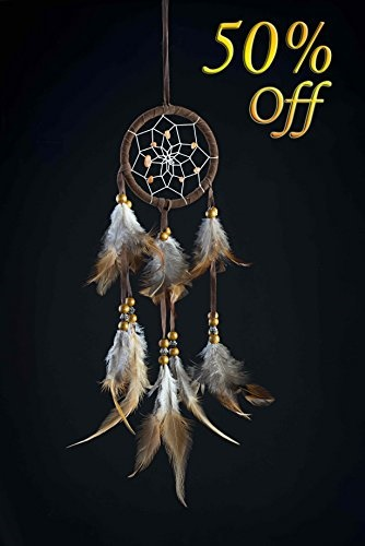 4697ec626f Handmade Native American Indian Dream Catcher with Feathers For Kids  Bedroom Wall Hanging Decor O