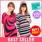 【Local Seller】♥ LuvClo ~ Best Seller Korean Oversize Long Sleeve Top (100 Design)