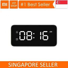 💖LOCAL SELLER💖[Xiaomi AI Clock]Smart Voice Broadcast Alarm Clock ABS Table Dersktop Clocks Aut
