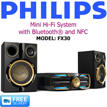 PHILIPS - Mini Hi-Fi System WITH Bluetooth® and NFC - MODEL: FX30 - FREE DELIVERY!