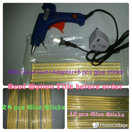 #B Mini Hot Glue Gun (small nozzle) +adapter+ 6pcs 20cm glue stick+ non stick pad+instruction sheet