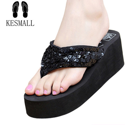 1e7035a85 summer non-slip bling sandals female slippers women flip-flop sandals platm  indoor flip