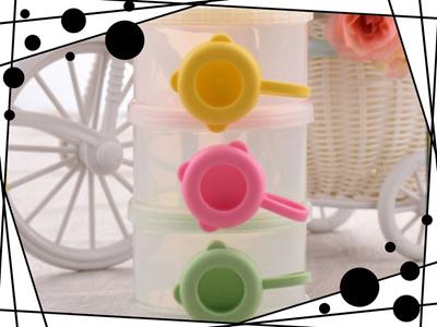 Food Milk Feeding Powder Container Baby Infant Travel Storage Box 3 Layers