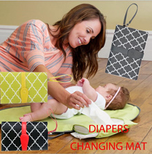 ★Portable Baby Diaper Changing Mat★Waterproof★Foldable Changing Clutch★Baby Travel Changing Kit