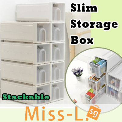 item slim furniture clear premium stacking deco container drawer w box stackable l samla drawers miss g plastic storage