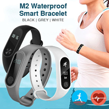 m2 smart bracelet heartrate waterproof oled