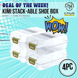 SET OF 4 - Kimi Shoe Box - Stack-able