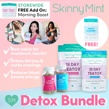 [SkinnyMint Official] Detox Bundle (28Day Teatox + Fat Burning Gummies) + FREEBIES!