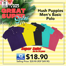 HUSH PUPPIES MENS KNIT POLO SHORT SLEEVE WITHOUT POCKET| #HMP601363 MULTI-COLOURS
