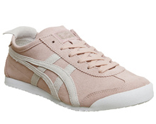 Onitsuka Tiger Mexico 66 Trainers Pink Grey Suede