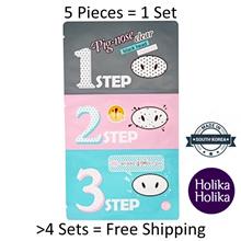 Holika Holika Pig-Nose Clear Blackhead 3 Step Kit 1 Treatment - 5 Pcs