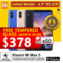 [GROUPBUY]Xiaomi Mi Max 3 6G+128GB | With Playstore Installed | SG Seller | Export Set| Latest Model