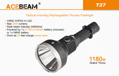 Acebeam T27 Long Throw USB Recharegable Flashlight