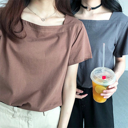 2019 women t shirt/short sleeve t shirt/girl summer clothes/basic clothes/fashion clothes女式T恤